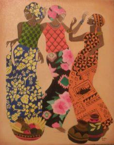 African Women – J. Darden 24 x 18 Oil on Canvas Panel