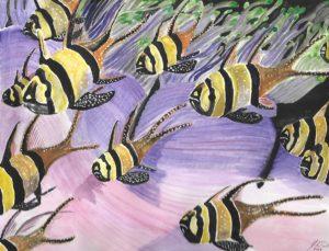 Aquarium – J Darden – 9×12 – Watercolor on Paper