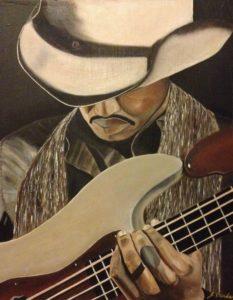 Guitar (Solo) – J. Darden 20 x 16 Oil on Canvas Panel