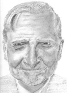E.O. Wilson Sociobiologist – J Darden -9×12 – Pencil