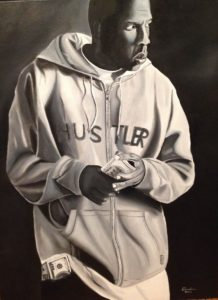 Jay Z – The Hustler – J. Darden 24 x18 Oil on Canvas Panel