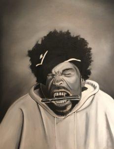 Method Man – J. Darden 20 x 20 Oil on Canvas