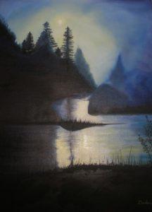 Midnight Mist – J. Darden 24 x 18 Oil on Canvas Panel