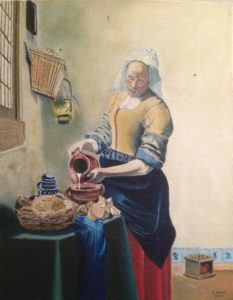 The Milkmaid – J. Darden – 14 x 11 Oil on Canvas Panel