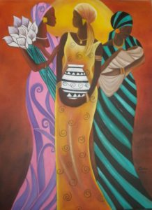 Sisters of the Sun – J. Darden 24 x 18 Oil on Canvas Panel