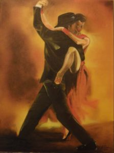 Tango Argentino – J. Darden 24 x 18 Oil on Canvas Panel